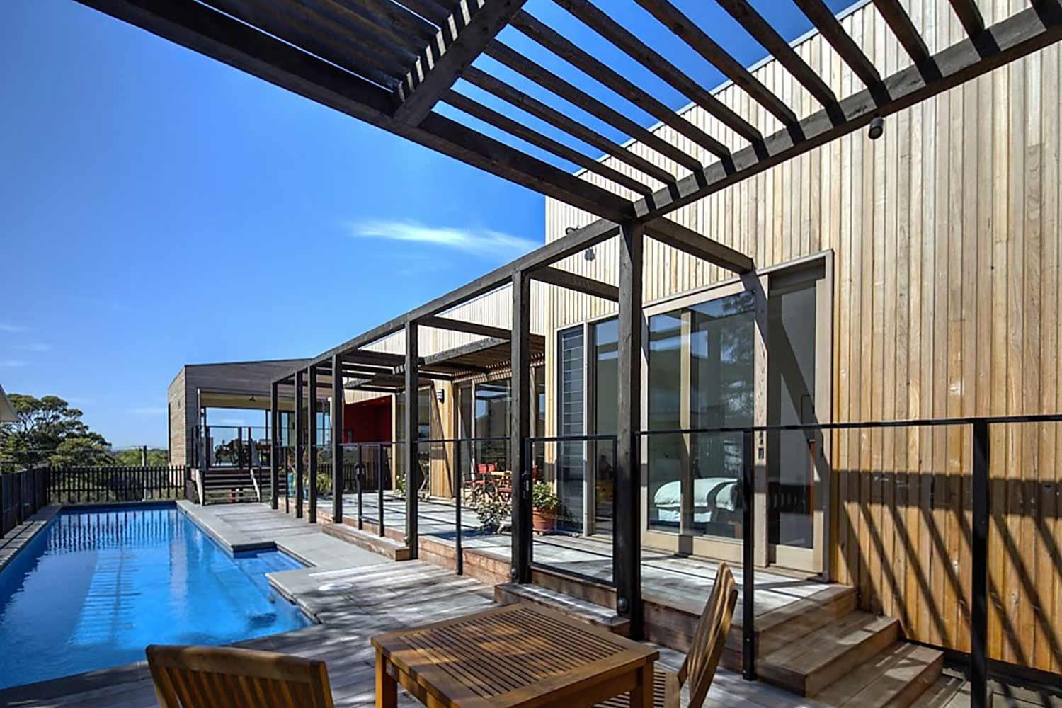 pool and timber decking