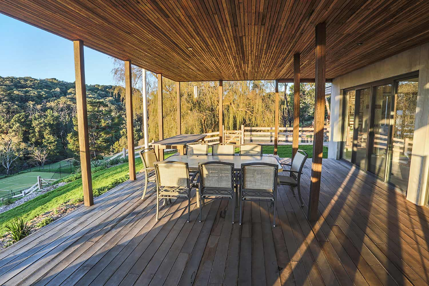 timber deck and ceiling