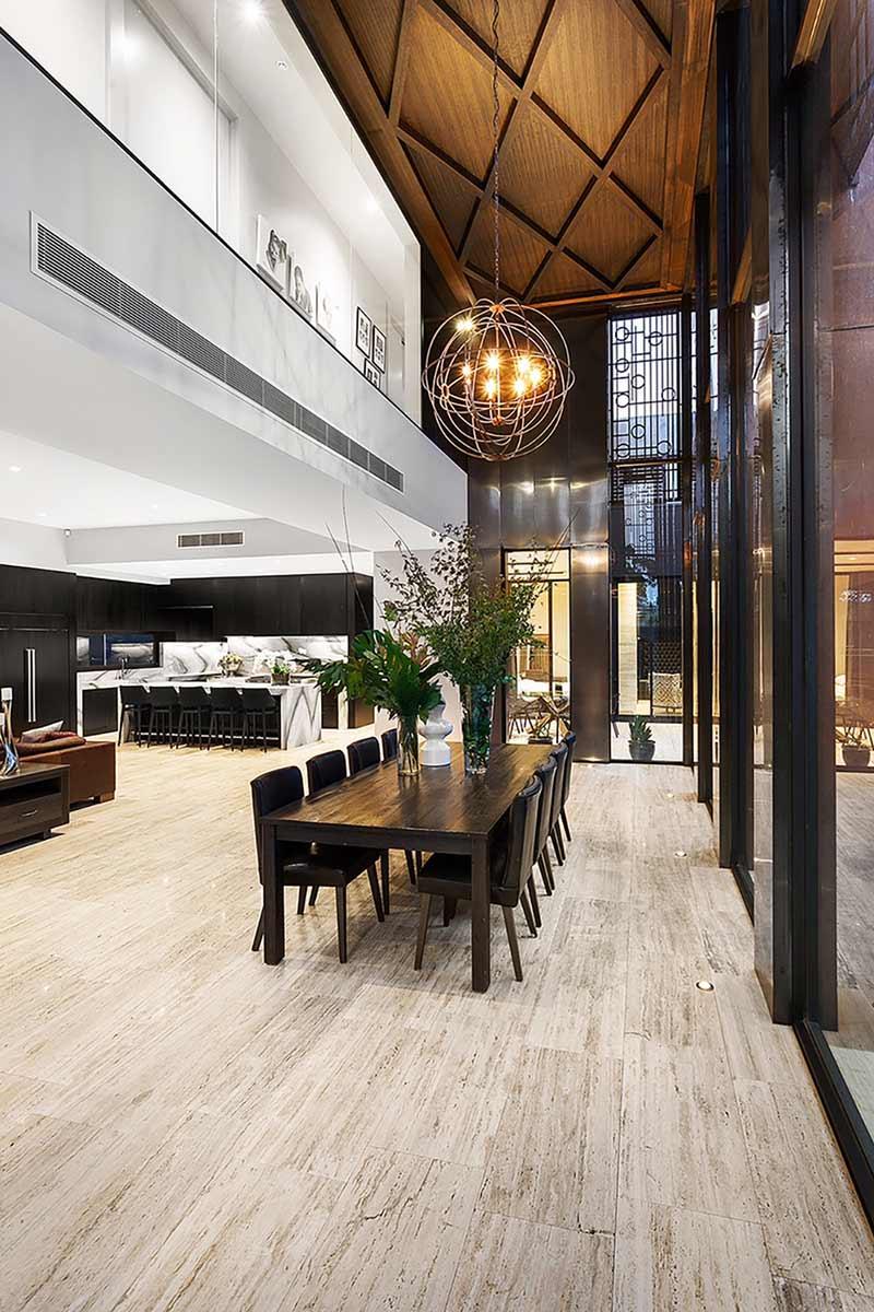 expansive interior
