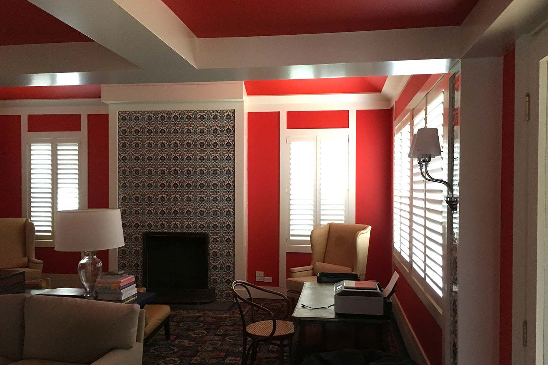 Striking Red Room